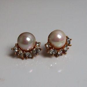 Pearl Rhinestone Earrings! Mix/Match Sale 2/$10!